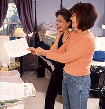 Jill working with Rosellin